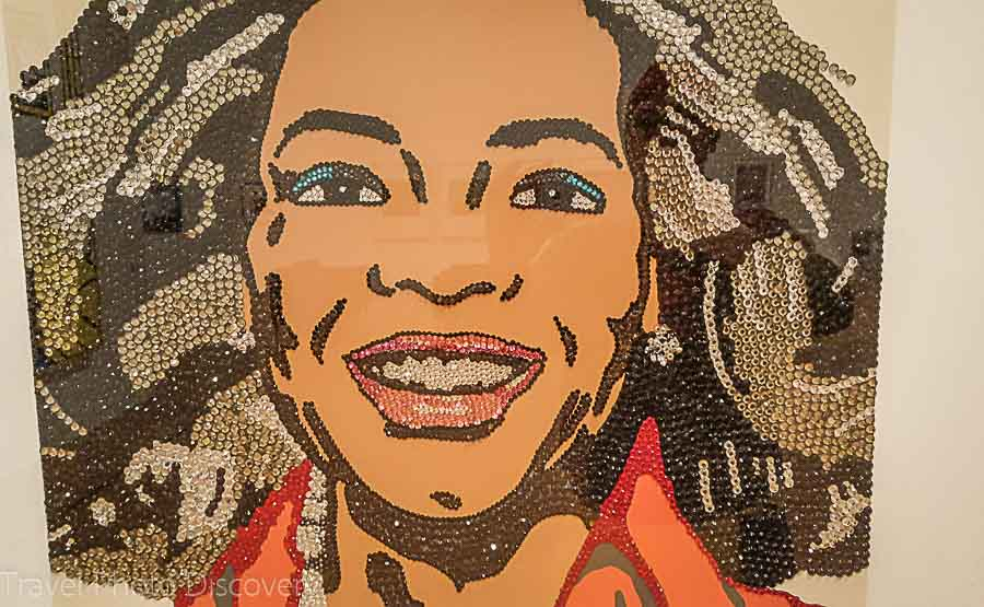 Oprah Winfrey in sequins Columbus Museum of Art