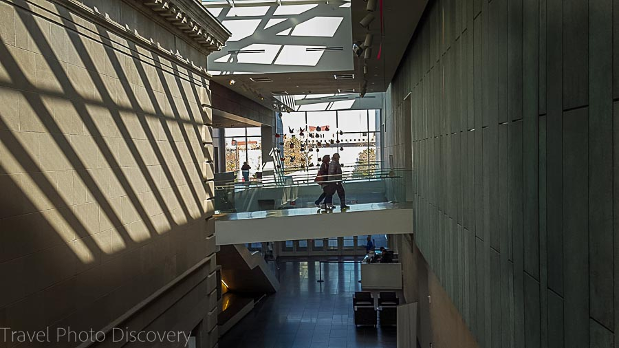 Interior gallery and entry at the Columbus Museum of Art