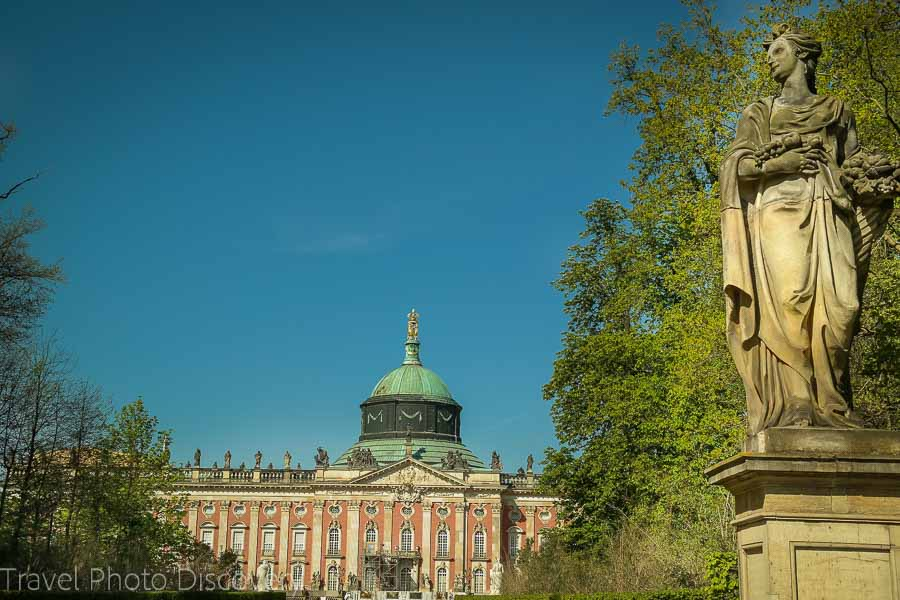 Royal entry to the Neues Palais or New Palace at Potsdam, Germany