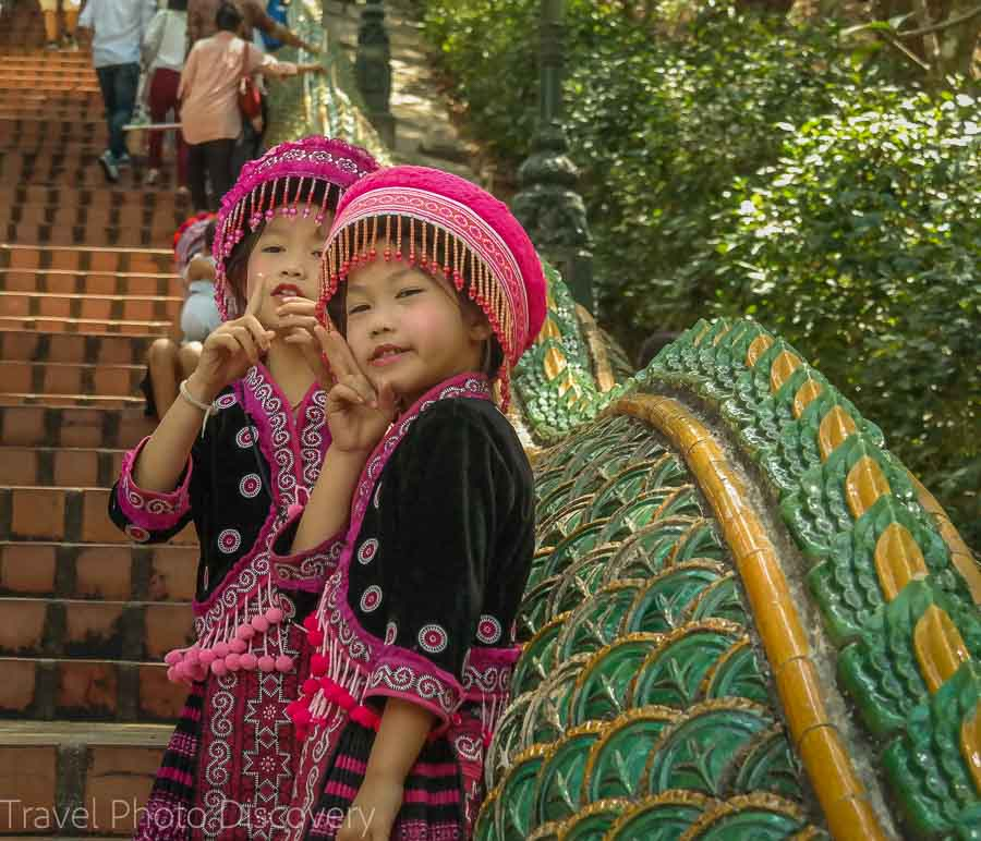 Stairs and Naga serpants Visiting Wat Phra That Doi Suthep