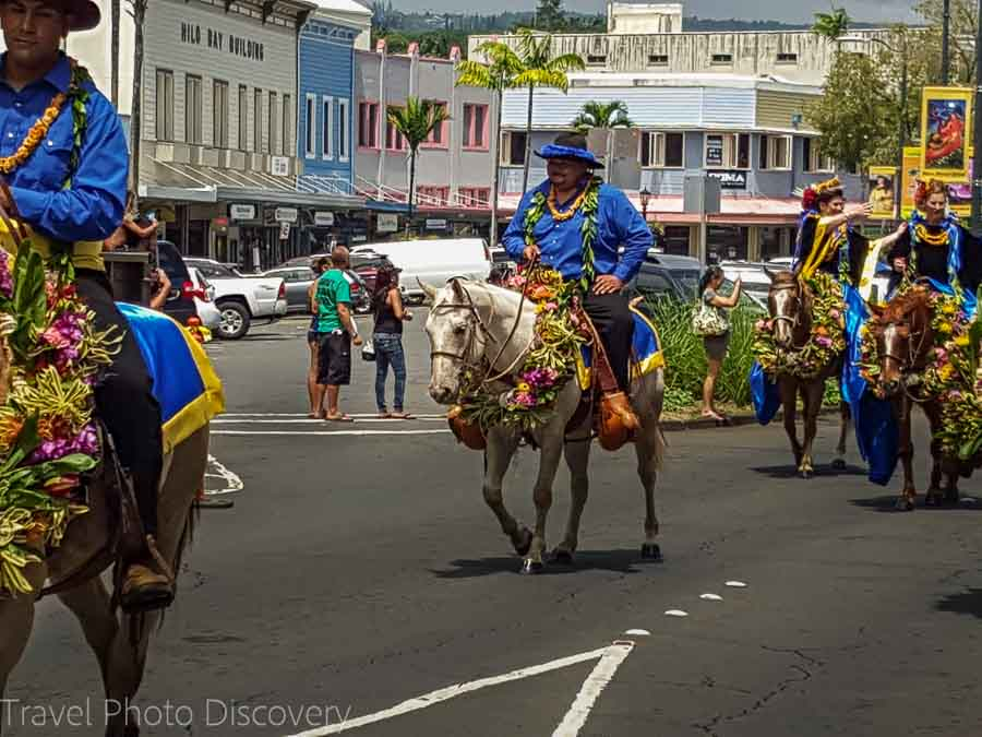 Pau riders at the Merrie Monarch Parade in Hilo Hawaii