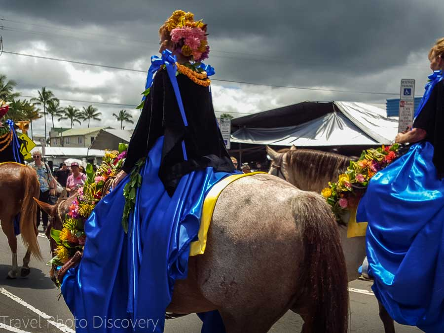 The Merrie Monarch parade pau rider