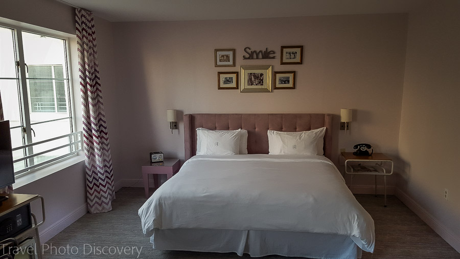 Plush bedrooms at Hotel Astor, South Beach