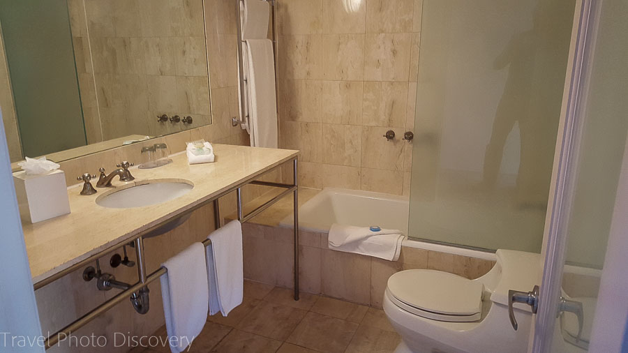 Bathroom on suite at Hotel Astor, South Beach