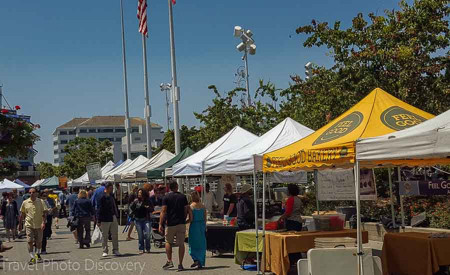 Food vendors at Jack London Square Oakland