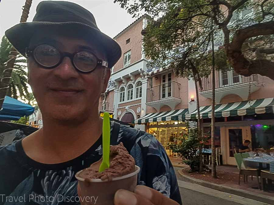 Gelato dessert South Beach food tour in Miami