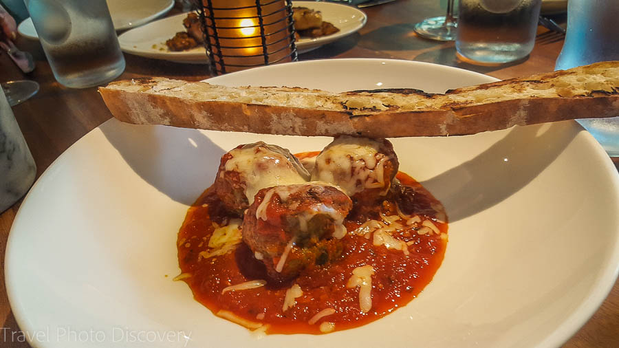 Delicious giant meat balls at Oltremare at Amara Cay Resort, Islamorada