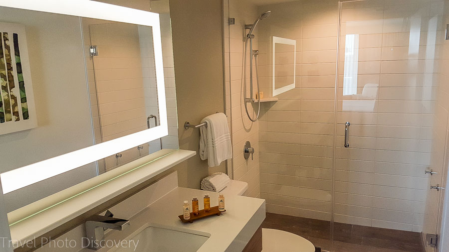 Simple and modern bathrooms at Amara Cay Resort, Islamorada