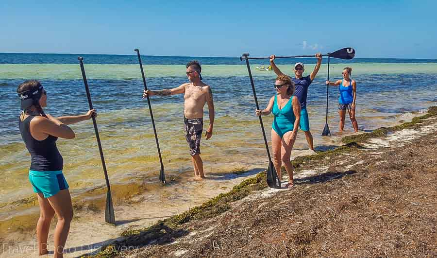 Basics in SUP boarding at Bahia Honda State park, Florida Keys