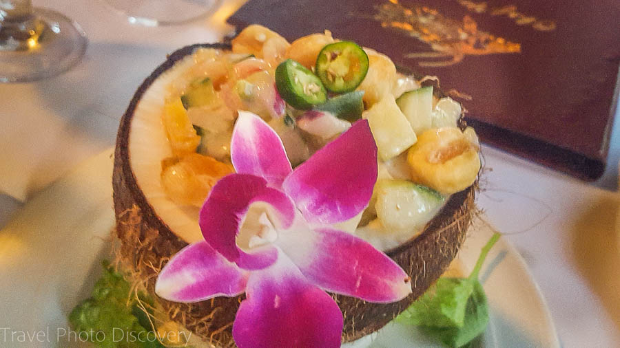 Coconut ceviche at Chef Michaels in Islamorada