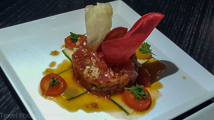Tuna Tartare at the Lighthouse Grill, Marathon City