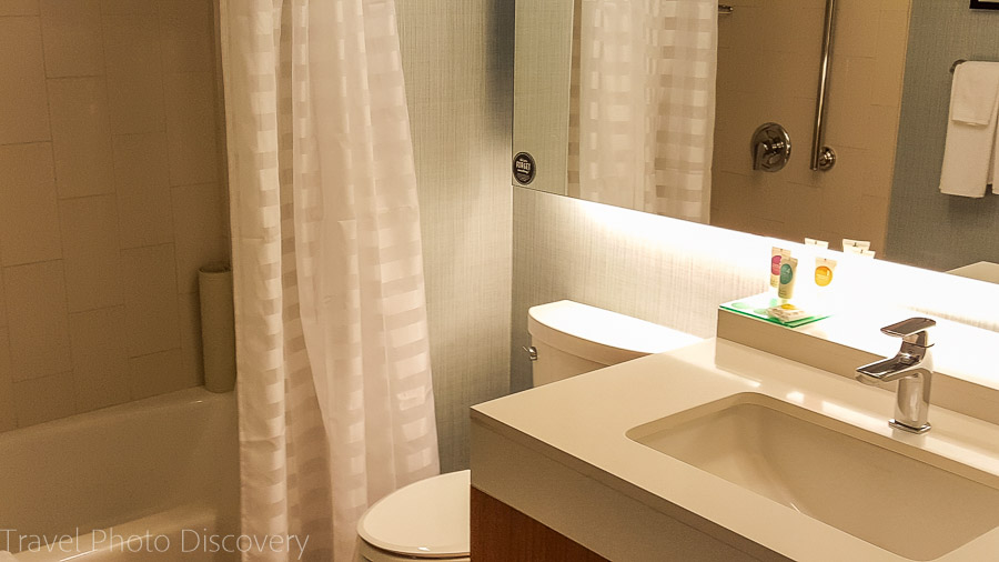 Hyatt Place bathroom and amenities, Florida Keys