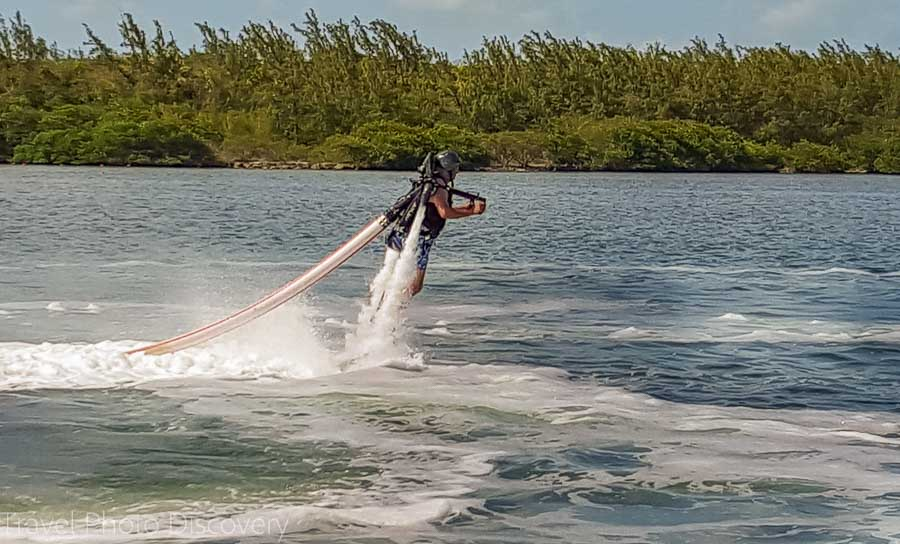 Jetpack water sport at Postcard Inn, Islamorada, Florid
