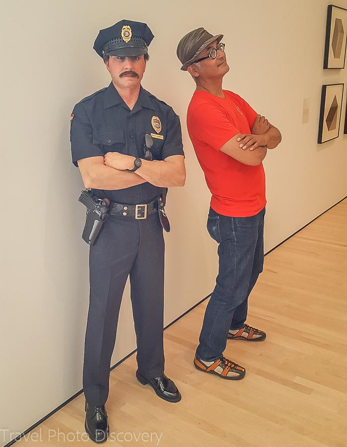 The police officer at SF Moma in San Francisco