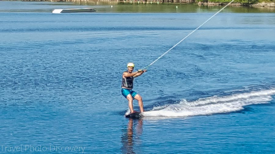 Wake boarding on Marathon Keys, Florida Keys