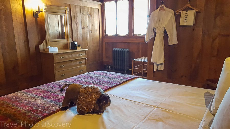 Bedroom at Old Yellowstone Inn in Yellowstone National Park