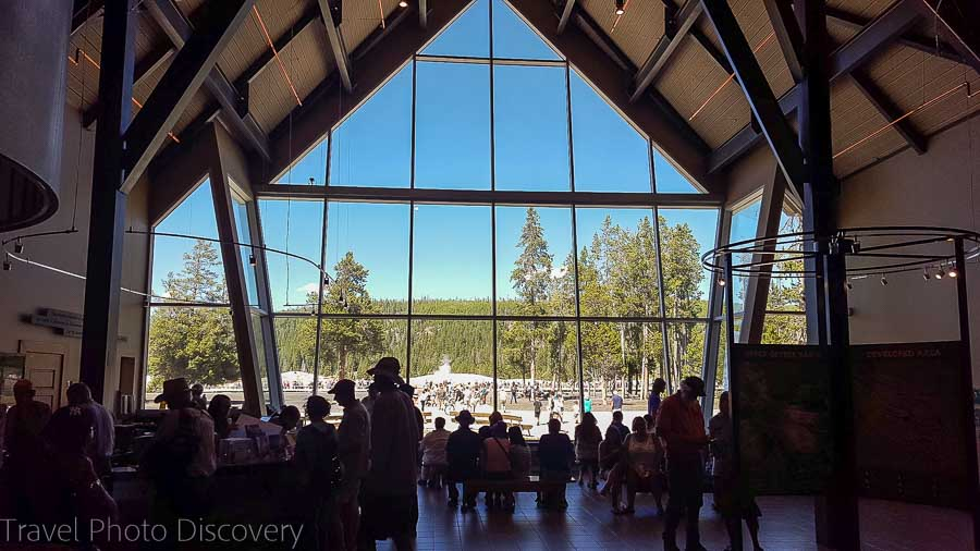 Yellowstone visitors center at Old Faithful area