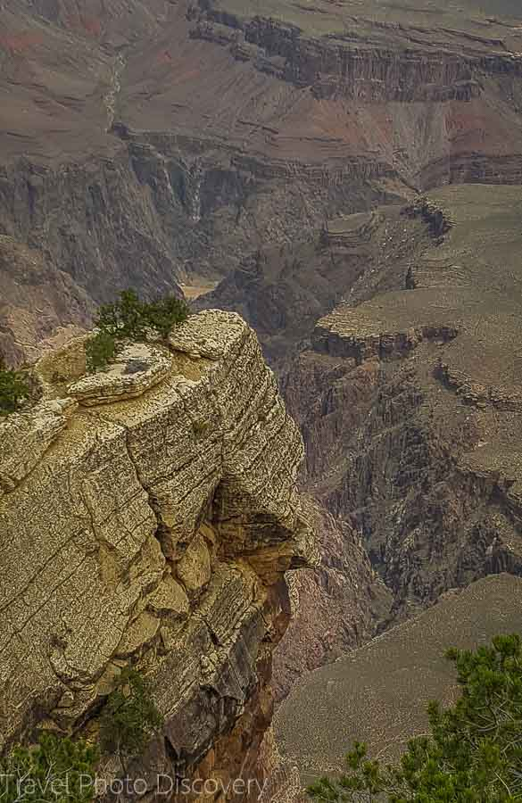 Looking below Rim Trail Grand Canyon National Park