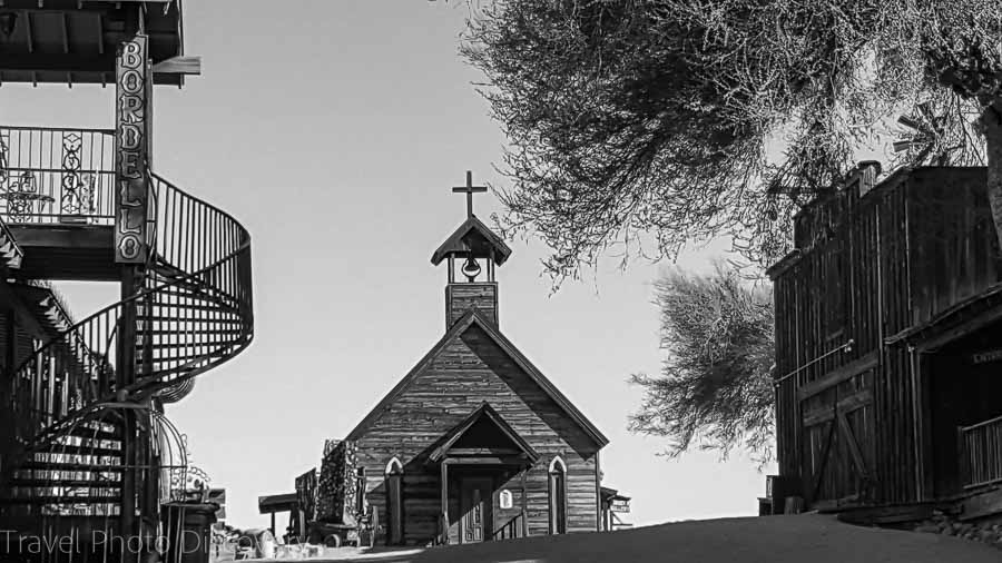 Goldfield Ghost town and church Driving the Apache Trail in Arizona