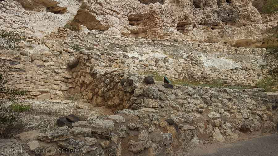 Ruined pueblos at Montezuma castle cliff dwellings