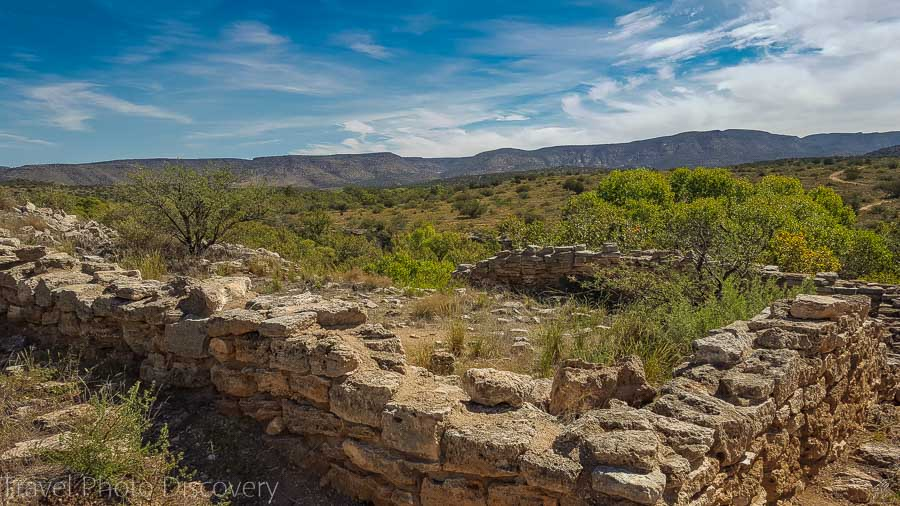 Ruined pueblos on the trail at Montezuma's well in central Arizona