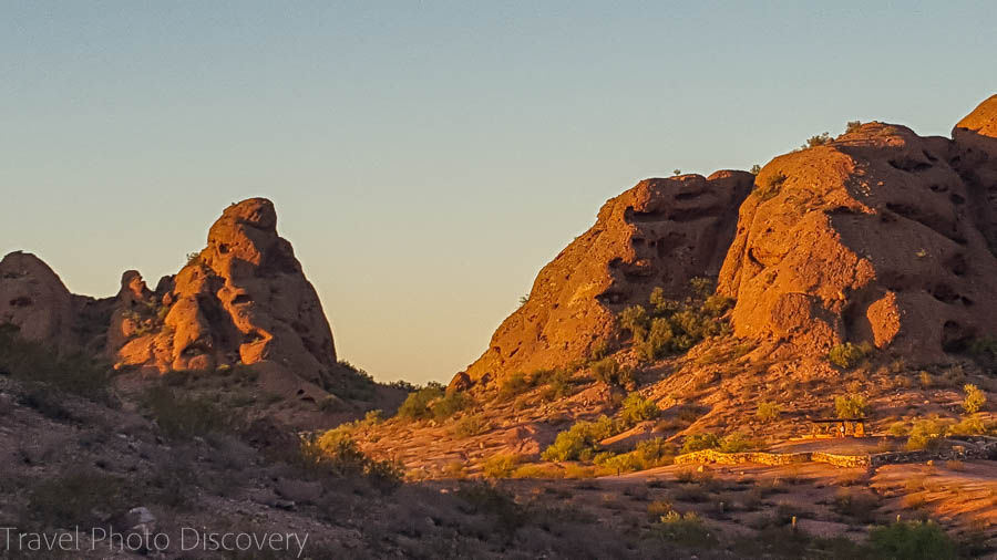 Afternoon hike at Papago Park in Phoenix Arizona