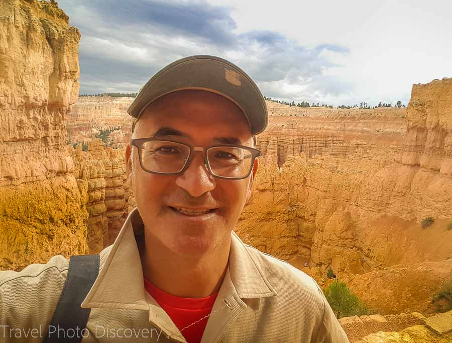 Selfie at Bryce Canyon overlook vista point