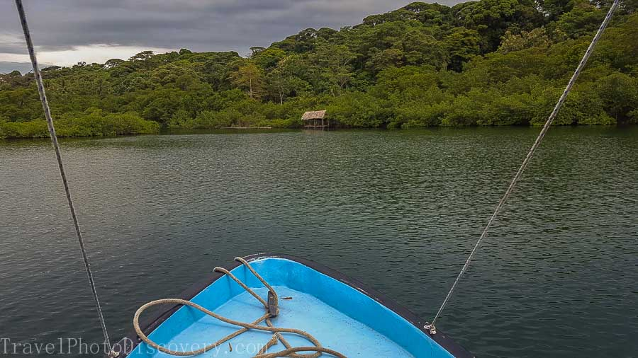 Taking a local boat to La Loma in Bastimentos Panama