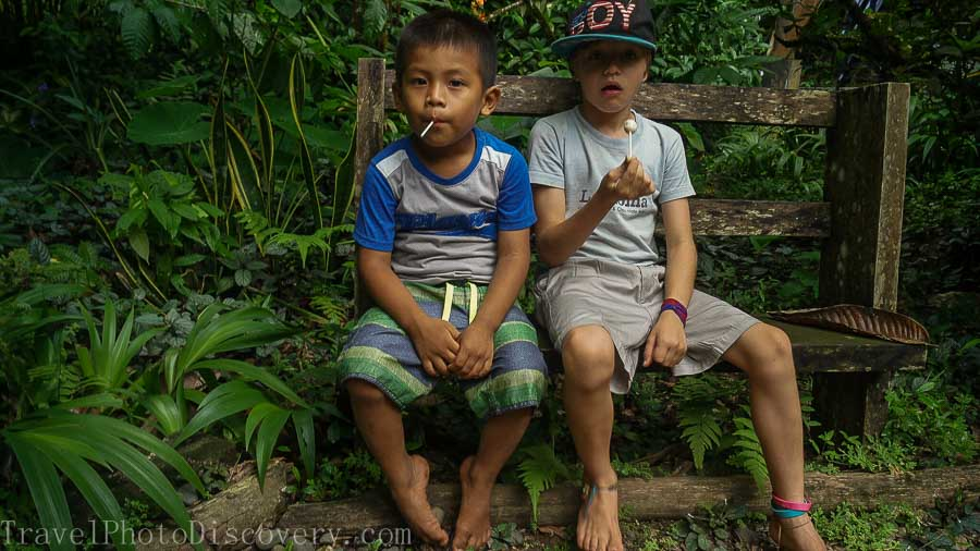 Children of La Loma chocolate plantation Bocas del Toro