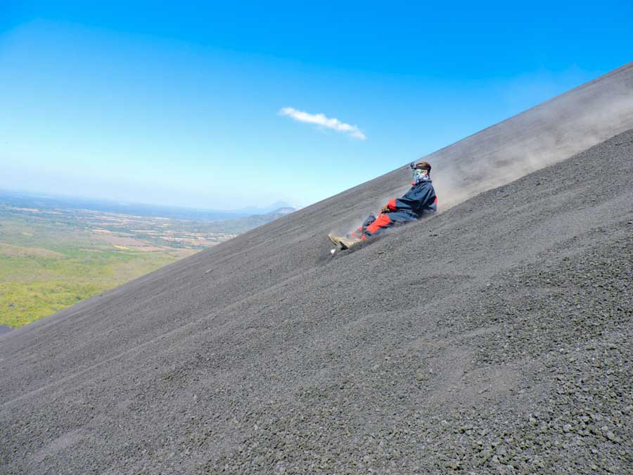 Top adventure and eco experiences volcano boarding in Nicaragua
