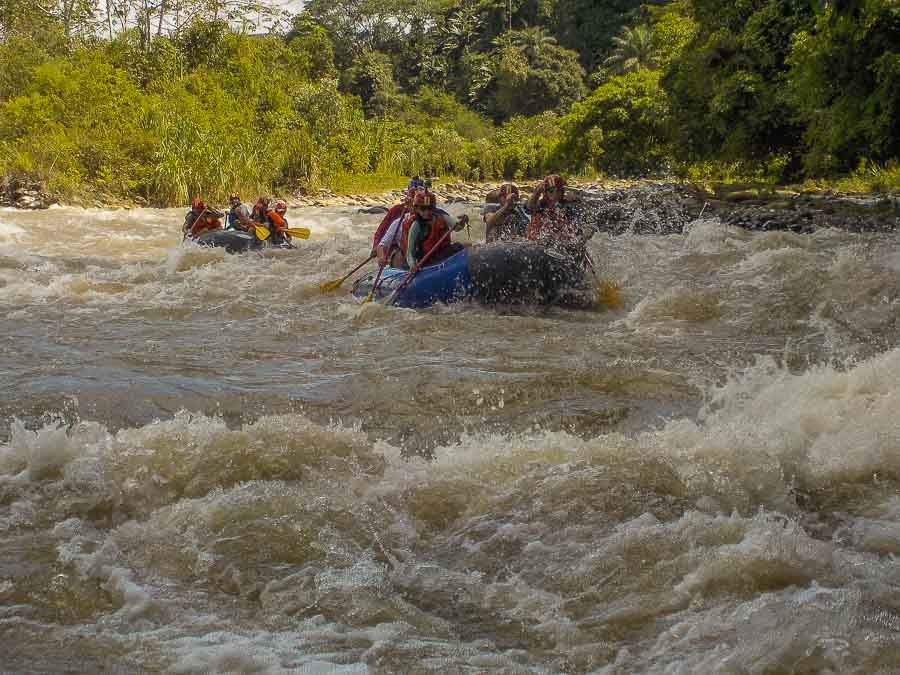 White water rafting along the Chiriqui Viejo outside of Boquete Panama