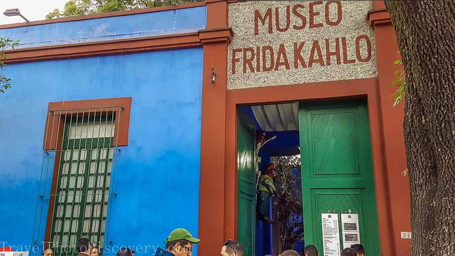 Entrance to the Frida Kahlo Museum in Mexico City
