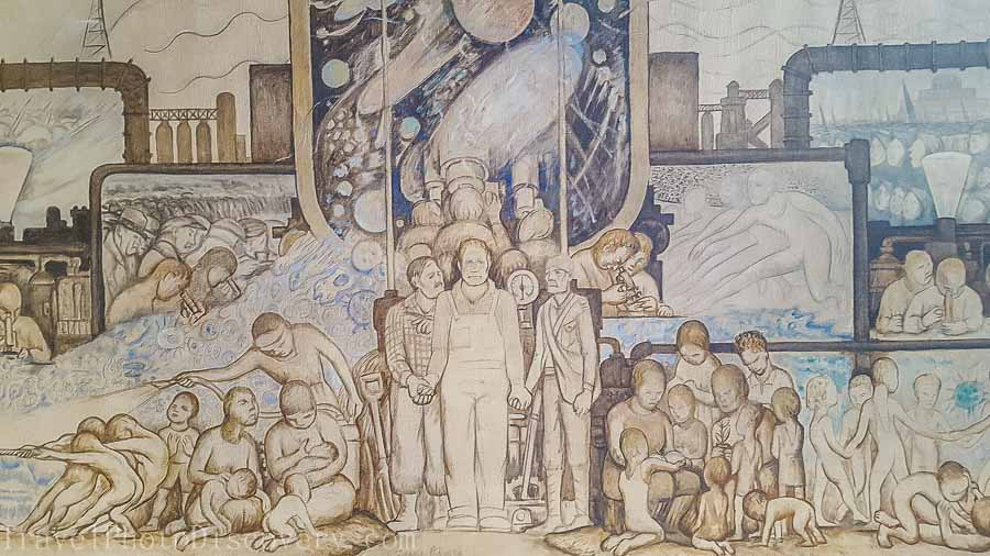 Large scale Diego Rivera drawings at Museo Anahuacalli in Mexico City