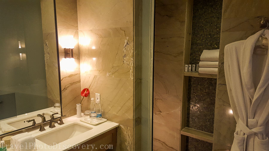 Bathroom area at the St. Regis Hotel Mexico City