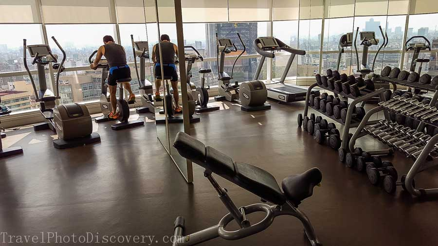 Gym area at the St. Regis Hotel Mexico City