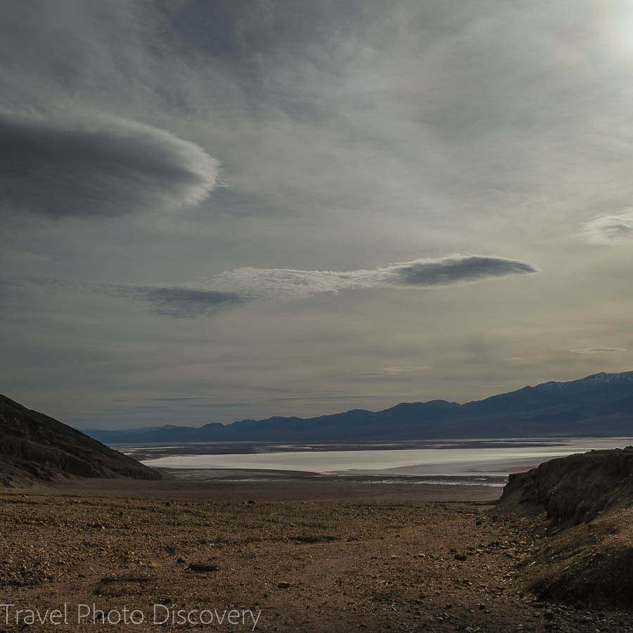 Overlooking the salt flats at Death Valley National park