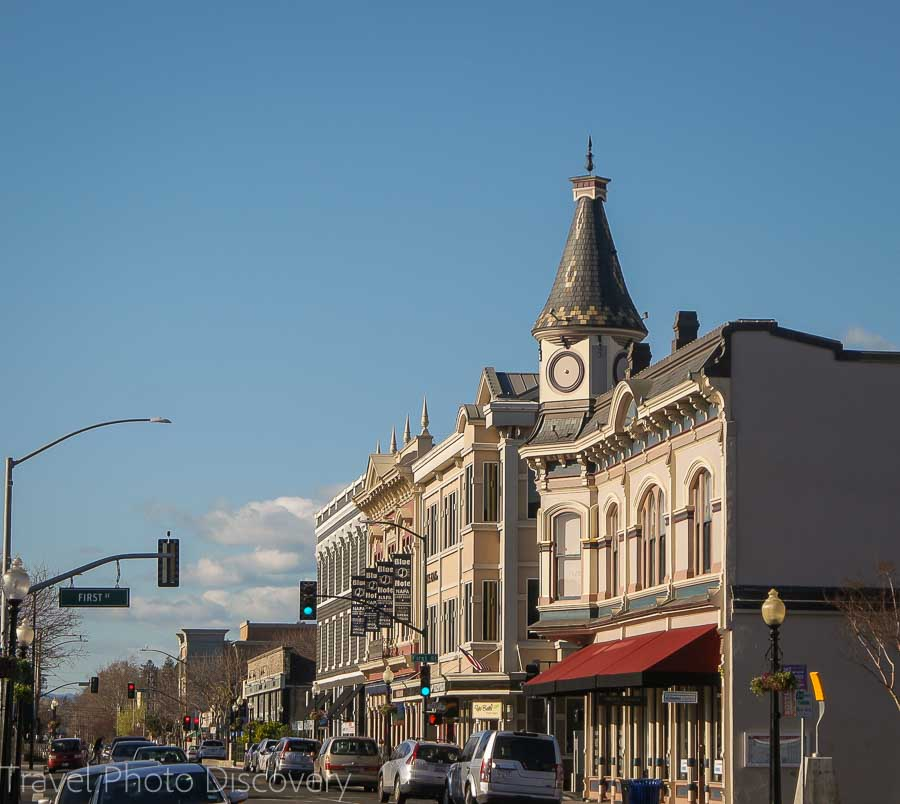 Historic downtown district at Napa