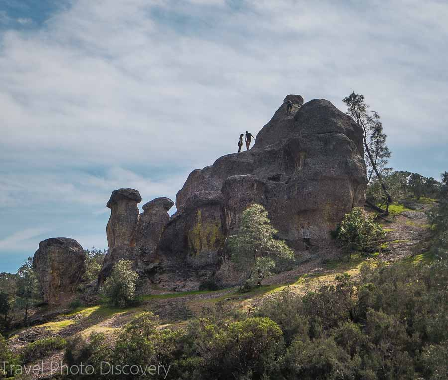 Climbing up at Pinnacles National Park