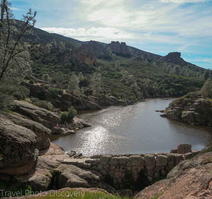 The reservoir above Balconies cave at Pinnacles National Park