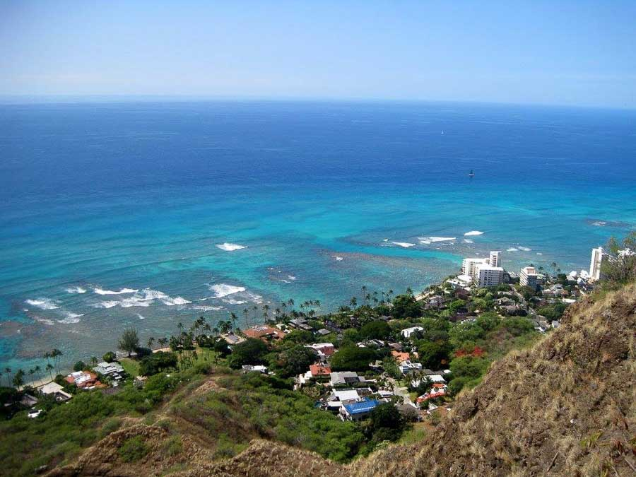 Top of Diamond Head Things to do in Oahu