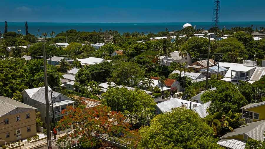 A view from above at Key West, Florida Keys