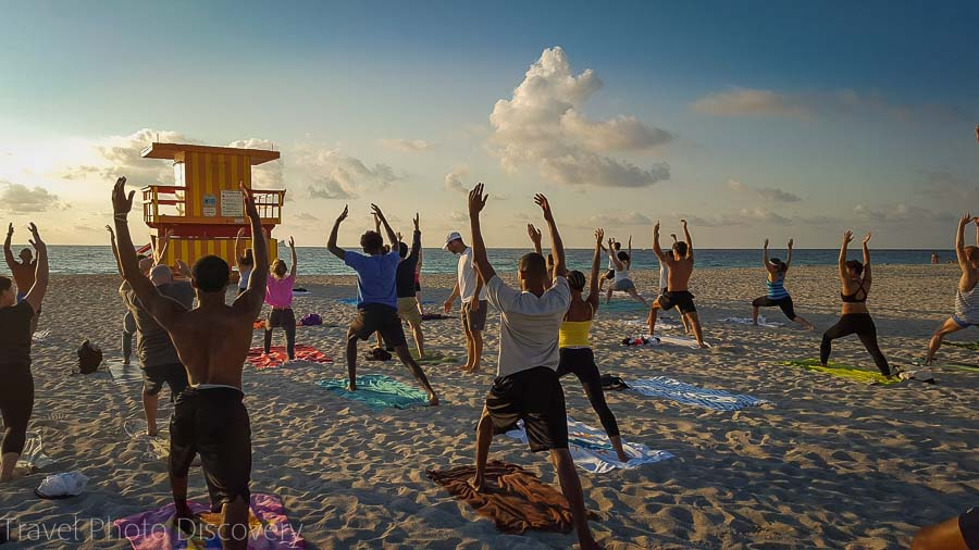Top Things to do in Miami Sunrise Yoga at Miami Beach