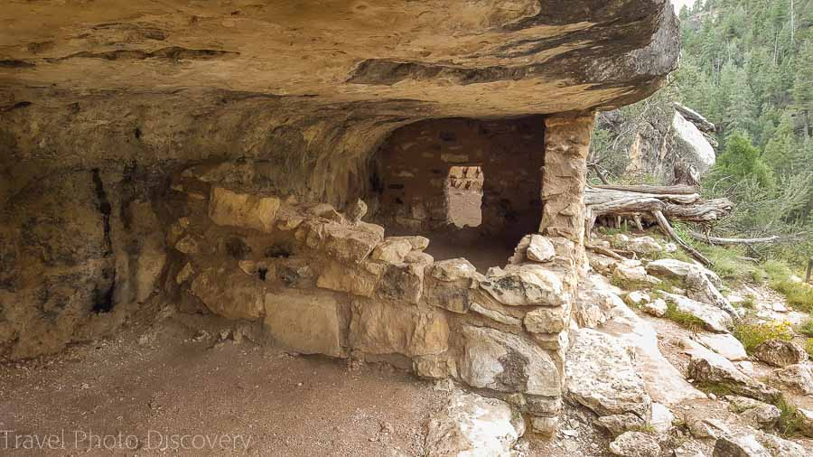 Inside a cliff dwelling at Walnut Canyon National Monument