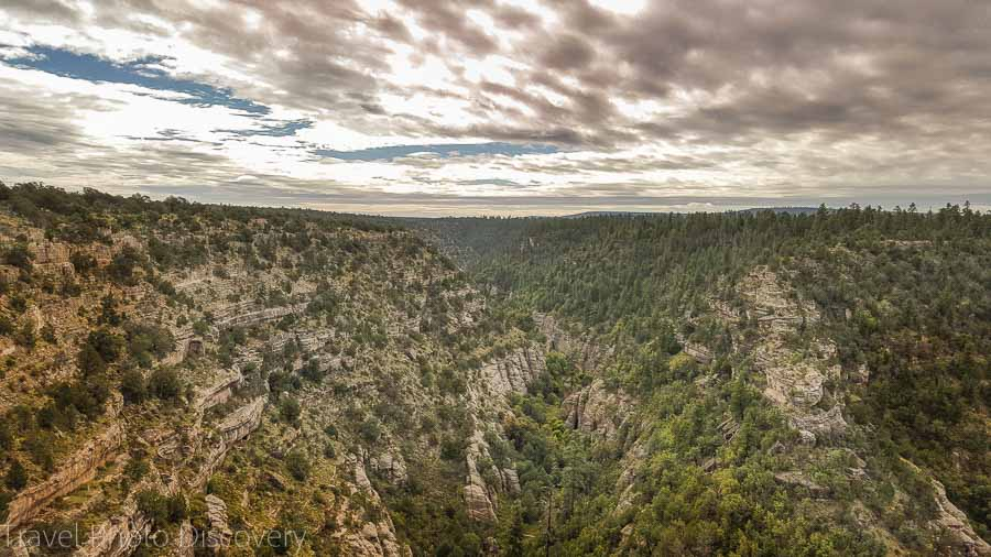 Panorama of Walnut Canyon National Monument