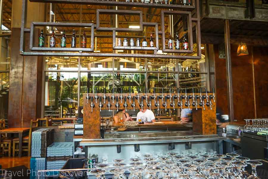 The bar at Stone Brewing gardens and restaurant in Escondido California