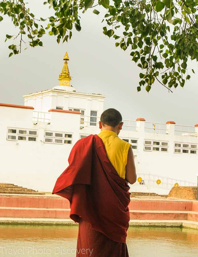 Holy temple and Unesco site at Lumbini