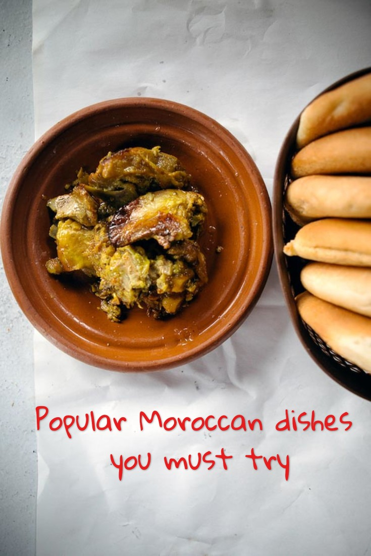 Must try Moroccan dishes Pinterest pin