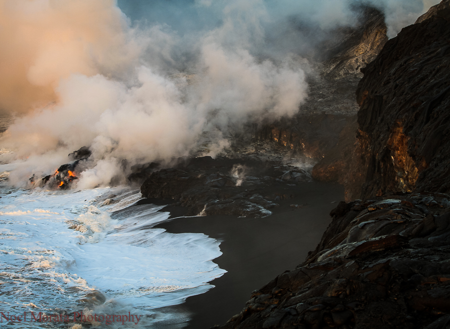Photo Friday – Kilauea lava entry into the ocean on Hawaii