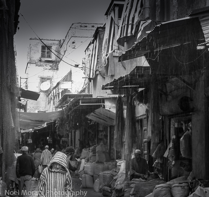 Marrakesh in black and white, photo Friday