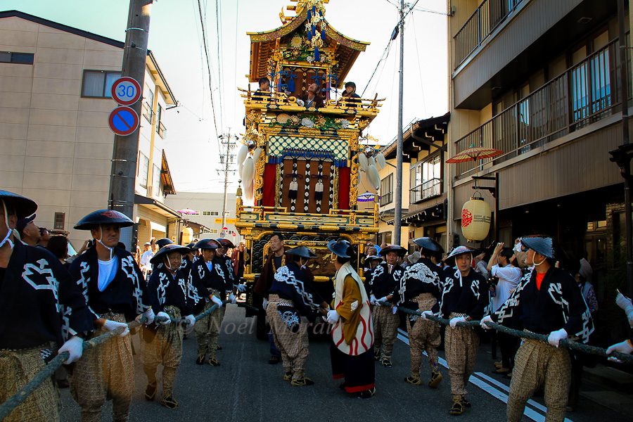 Fall harvest festival in Takayama, Japan